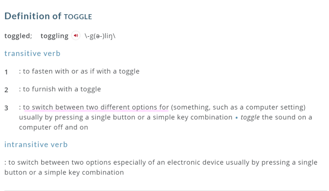 toggle definition